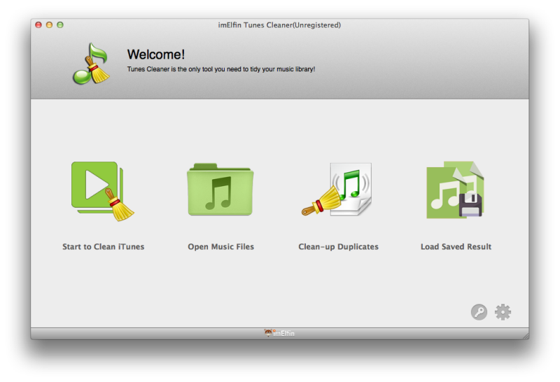 imElfin Tunes Cleaner - Interface