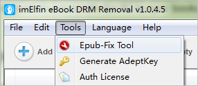 Access to EPUB-Fix Tool