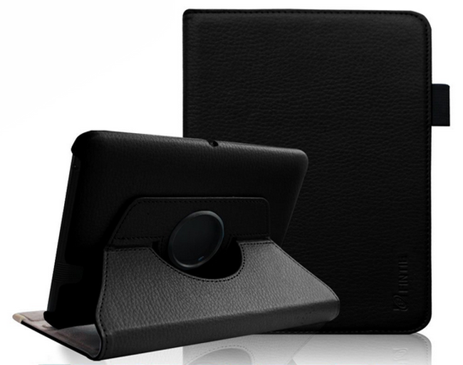 Fintie All-New Kindle Fire HDX 7 360 Degree Rotating Leather Stand Case - superb cheap