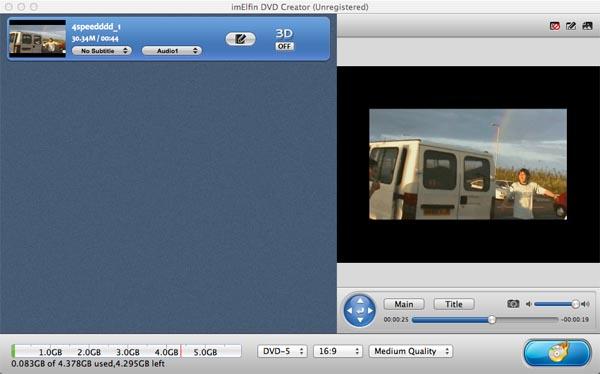 aimersoft mac dvd creator add
