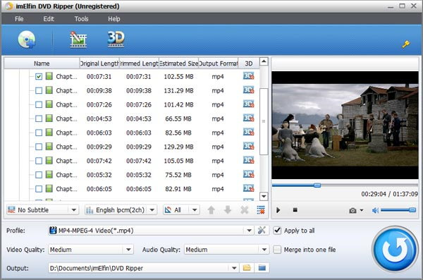 ImElfin DVD Ripper Screen shot