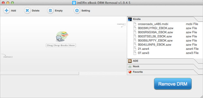 imElfin eBook DRM Removal for Mac