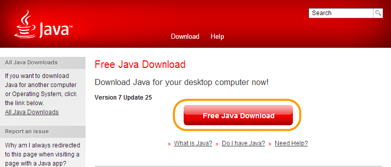 download Java TM to chrome