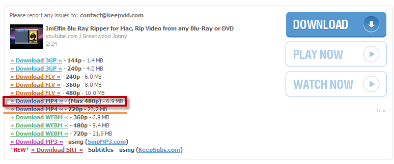 How to Download YouTube Videos free with KEEPVID