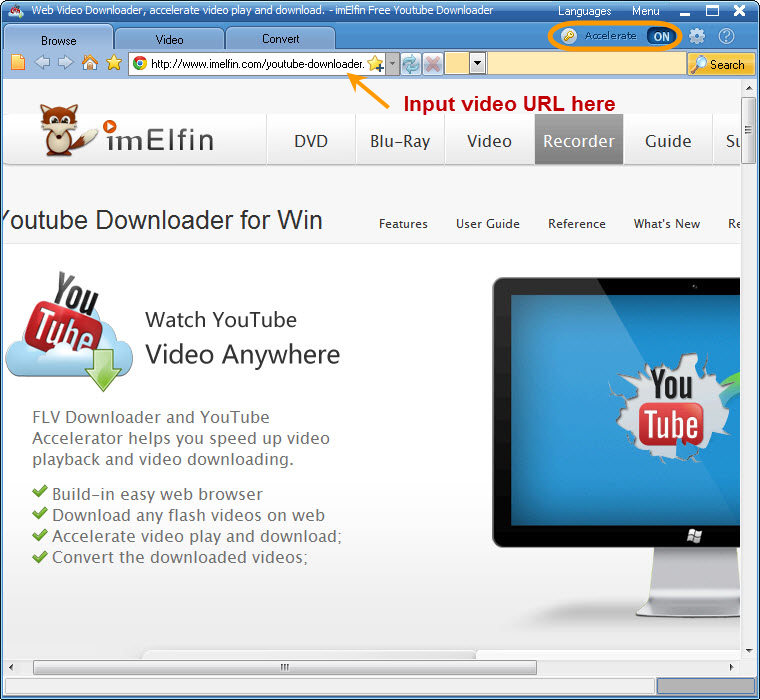 Keepvid alternative - imElfin YouTube Downloader