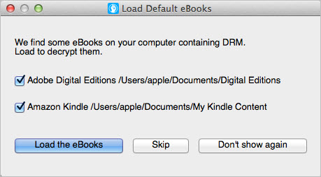 load default ebooks