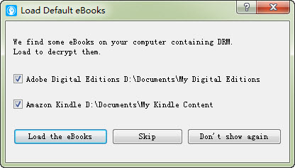 load ebooks into the tool