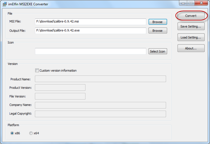Convert MSI to EXE with MSI2EXE Converter freeware