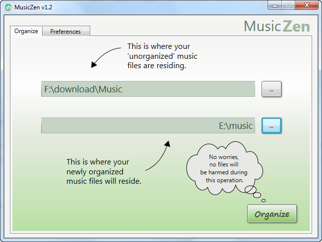 MusicZen music organizer