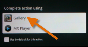 convert DVD to Kindle Fire - Open video with Gallery