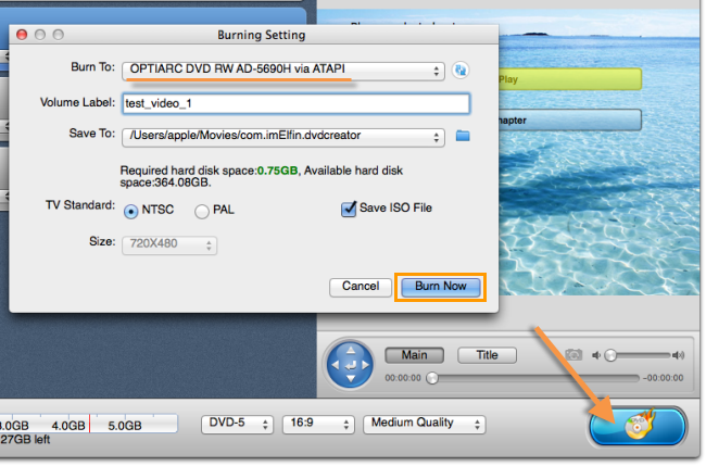 burn videos to DVD on Mac
