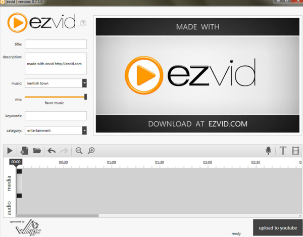 Ezvid free screen recording software