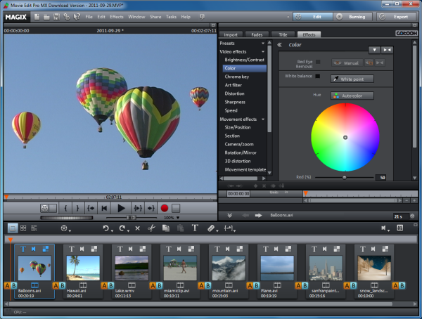 The best video editing software similar to sony vegas for Magix movie edit pro templates