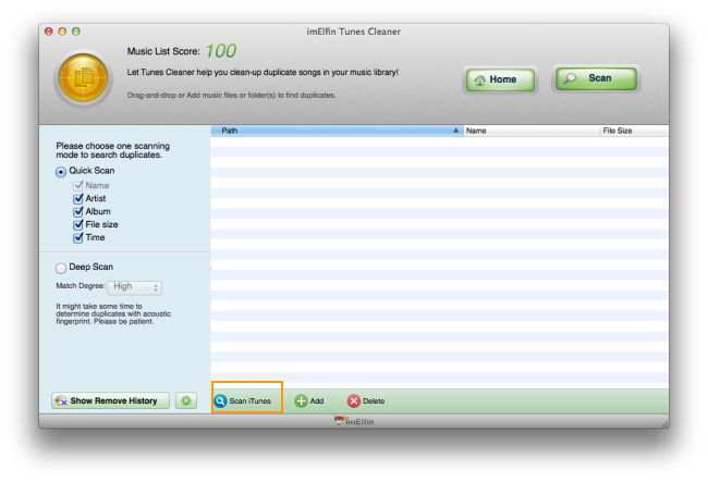 scan iTunes duplicates on Mac